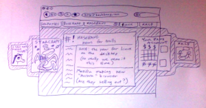 Lousy pen drawing of tab behavior idea, 2 of 2