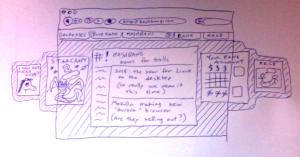 Lousy pen drawing of tab behavior idea, 2 of 2