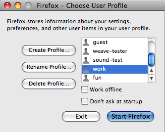 Better mental hygene with Firefox profiles | Not The User's