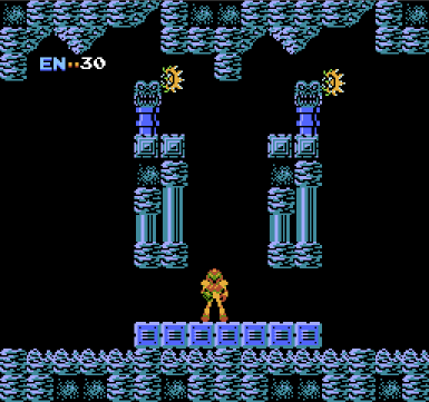 Metroid for NES, screenshot 1