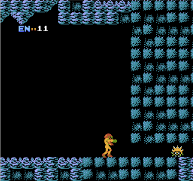 Metroid for NES, screenshot 2